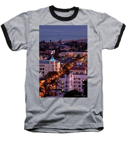 Baseball T-Shirt featuring the photograph California Street At Ventura California by John A Rodriguez