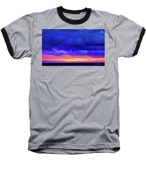 Baseball T-Shirt featuring the painting California Sunrise by Joan Reese