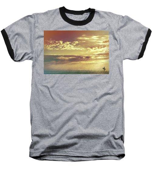 California Sunset Surfer Baseball T-Shirt