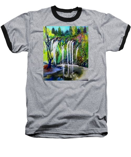 California Water Fall Baseball T-Shirt