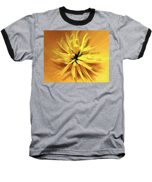 Californian Poppy Macro Baseball T-Shirt