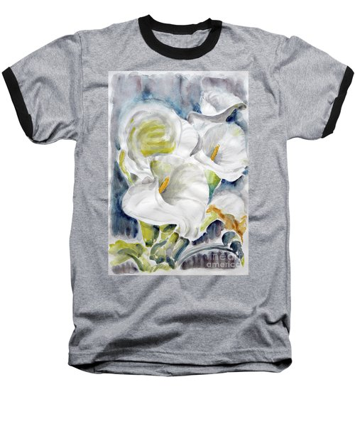 Baseball T-Shirt featuring the painting Calla by Jasna Dragun