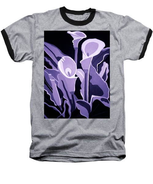 Calla Lillies Lavender Baseball T-Shirt