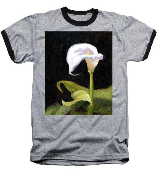 Calla Lily Baseball T-Shirt by Alice Leggett