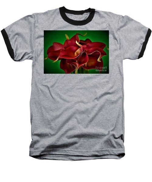 Calla Lily Bouquet Baseball T-Shirt by Ray Shrewsberry