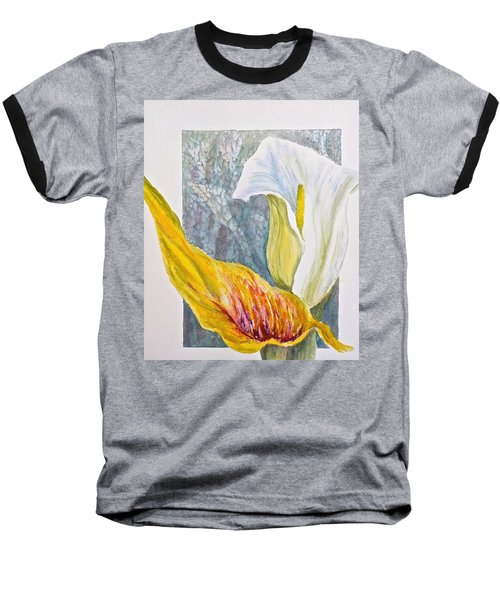 Baseball T-Shirt featuring the painting Calla Lily by Carolyn Rosenberger