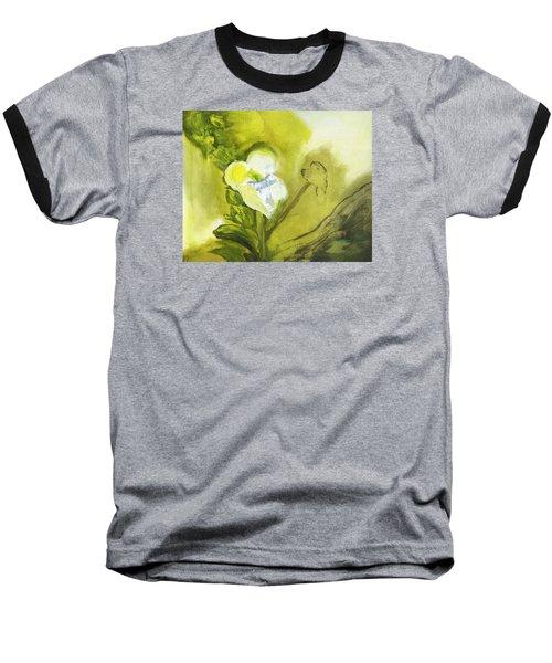 Calla Lily In Acrylic Baseball T-Shirt by Frank Bright
