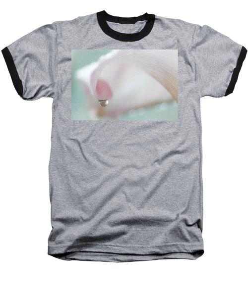Calla Lily Raindrop Baseball T-Shirt