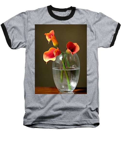 Calla Lily Stems Baseball T-Shirt by Diana Angstadt
