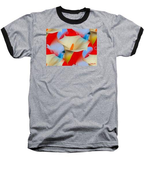 Splashy Calla Lilies Baseball T-Shirt