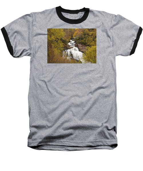 Baseball T-Shirt featuring the photograph Callasaja Falls- North Carolina by Penny Lisowski