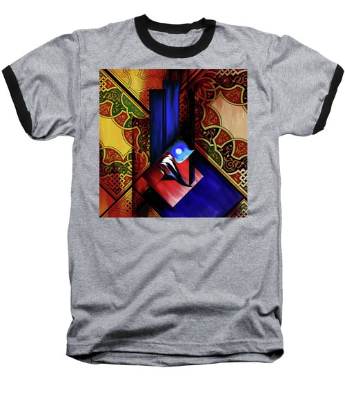 Baseball T-Shirt featuring the painting Calligraphy 102 1 1 by Mawra Tahreem