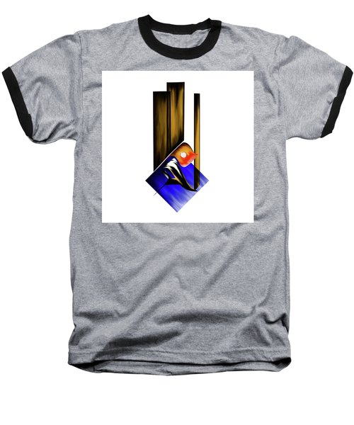 Baseball T-Shirt featuring the painting Calligraphy 102 1 by Mawra Tahreem