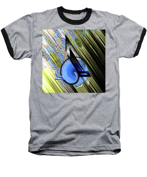 Baseball T-Shirt featuring the painting Calligraphy 103 4 by Mawra Tahreem