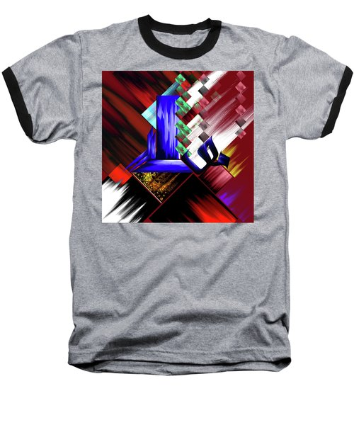Baseball T-Shirt featuring the painting Calligraphy 105 3 by Mawra Tahreem