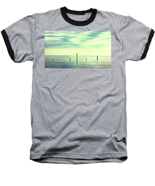 Baseball T-Shirt featuring the photograph Calm Bayshore Morning N0 1 by Gary Slawsky