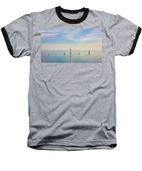 Baseball T-Shirt featuring the photograph Calm Bayshore Morning N0 2 by Gary Slawsky