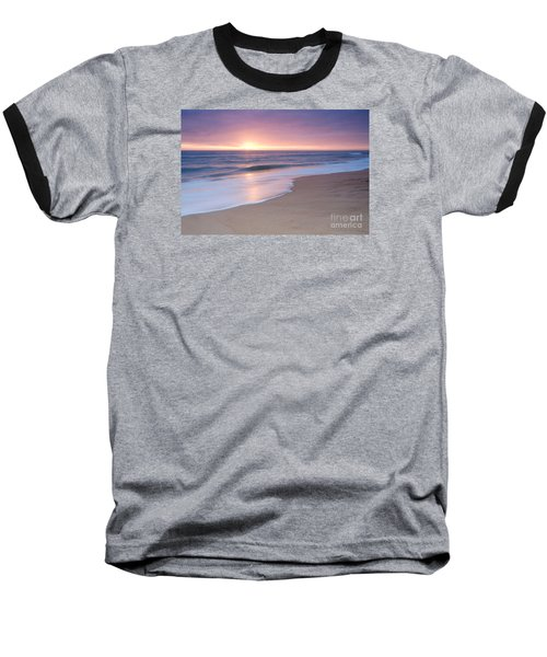 Calm Beach Waves During Sunset Baseball T-Shirt
