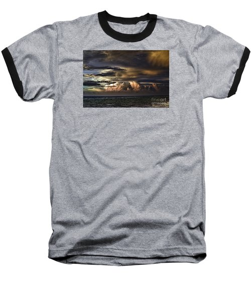 Baseball T-Shirt featuring the photograph Calm Before Storm by Judy Wolinsky
