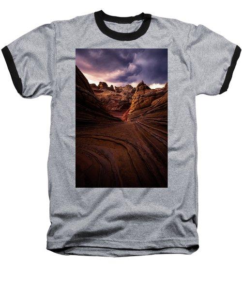 Calm Before The Storm Baseball T-Shirt by Bjorn Burton