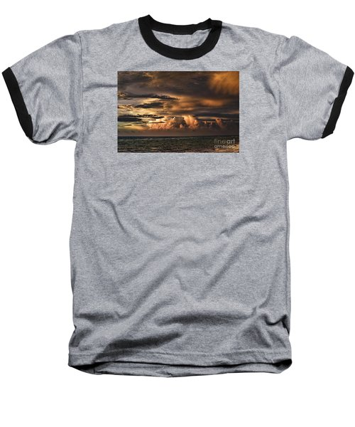 Baseball T-Shirt featuring the photograph Calm Before The Storm by Judy Wolinsky