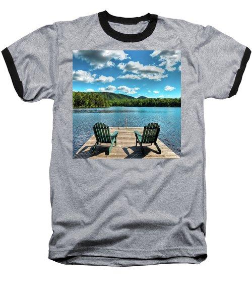 Calm In The Adirondacks Baseball T-Shirt by David Patterson