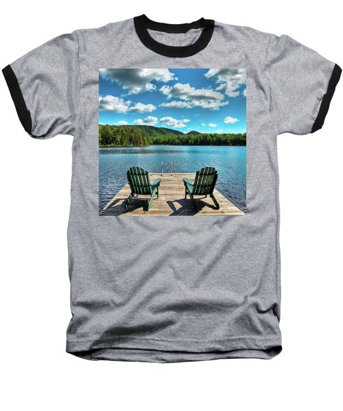Calm In The Adirondacks Baseball T-Shirt