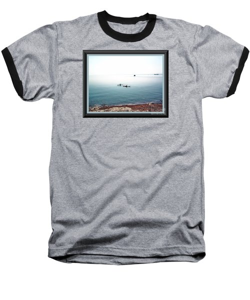 Baseball T-Shirt featuring the photograph Calm Lake Superior by Shirley Moravec