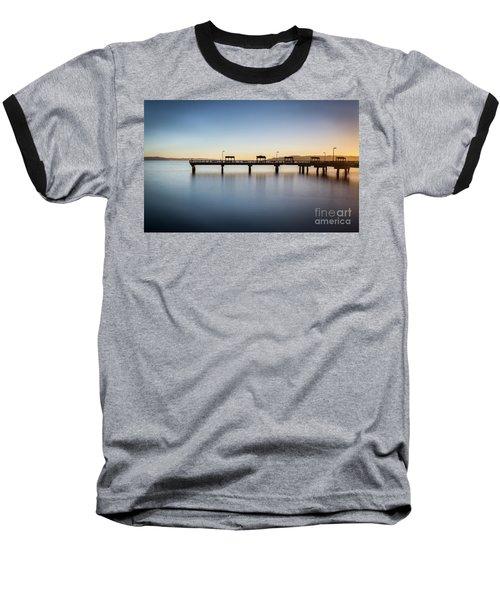 Calm Morning At The Pier Baseball T-Shirt