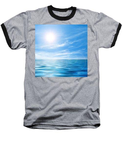 Calm Seascape Baseball T-Shirt