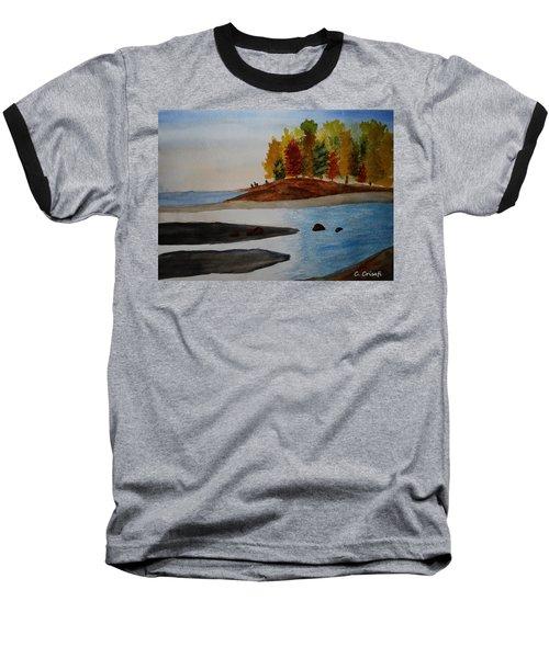 Calm Tide Baseball T-Shirt by Carol Crisafi