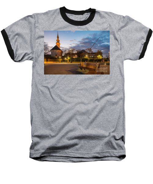 Baseball T-Shirt featuring the photograph Calm Twilight In Novi Sad Vojvodina by Jivko Nakev