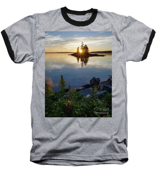 Calm Water At Sunset, Harpswell, Maine -99056-99058 Baseball T-Shirt by John Bald