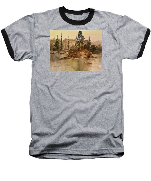 Calm Waters Baseball T-Shirt by Larry Hamilton