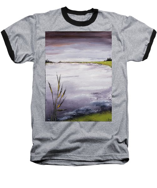 Calmer Water Baseball T-Shirt by Carolyn Doe