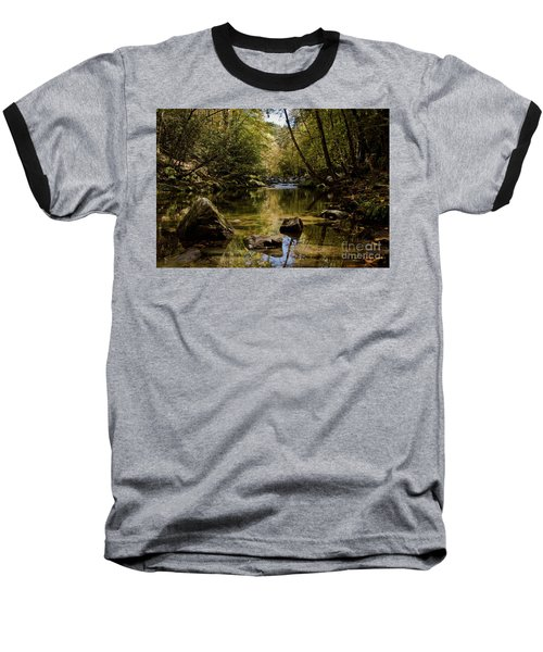 Baseball T-Shirt featuring the photograph Calmer Water by Douglas Stucky