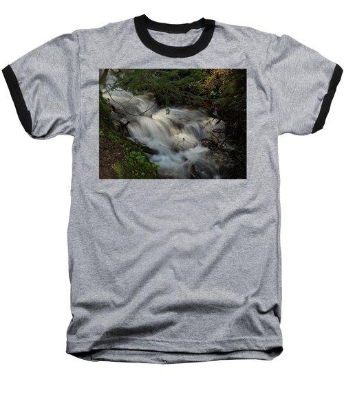 Calming Stream Baseball T-Shirt by DeeLon Merritt