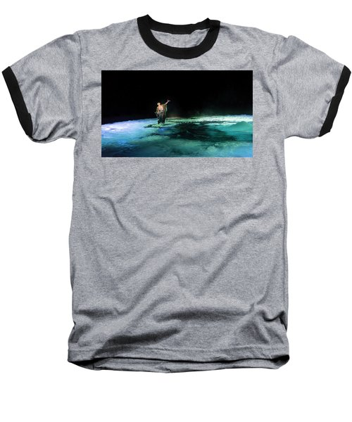 Baseball T-Shirt featuring the photograph Calming The Waters by Alex Lapidus