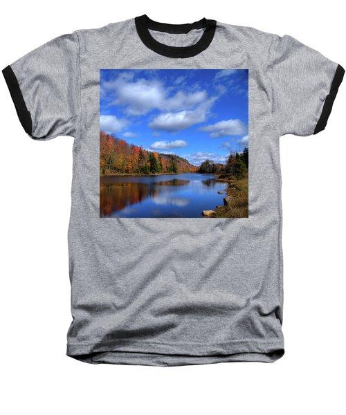 Calmness On Bald Mountain Pond Baseball T-Shirt by David Patterson
