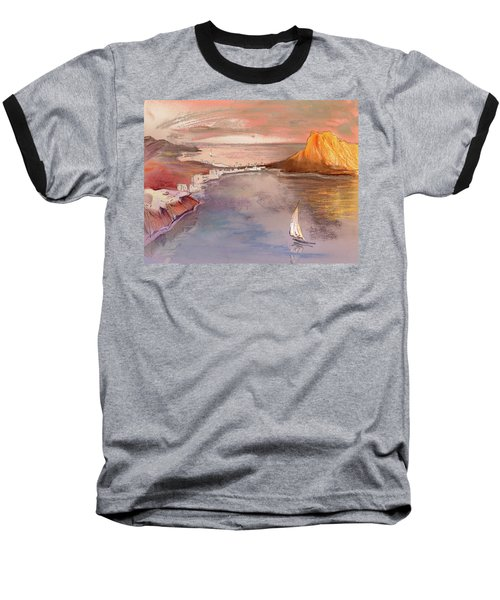 Calpe At Sunset Baseball T-Shirt