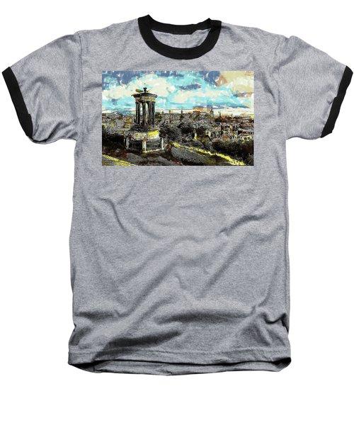 Calton Hill Edinburgh Baseball T-Shirt