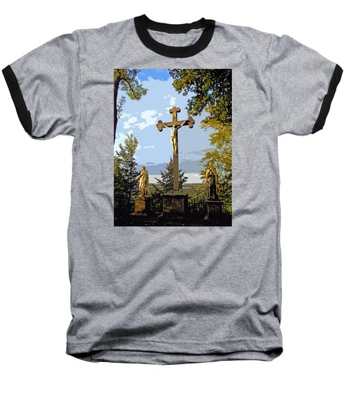 Baseball T-Shirt featuring the photograph Calvary Group - Parkstein by Juergen Weiss