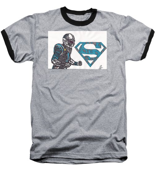 Cam Newton Superman Edition Baseball T-Shirt by Jeremiah Colley