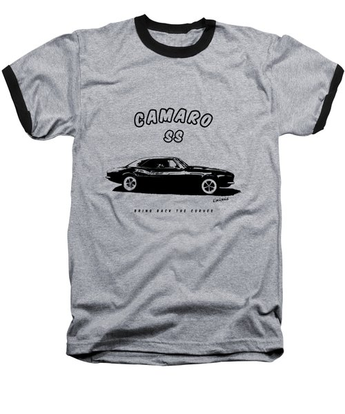 Baseball T-Shirt featuring the photograph Camaro Ss by Kim Gauge