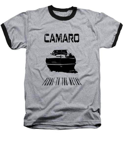 Camaro Ss - Pedal To The Metal Baseball T-Shirt