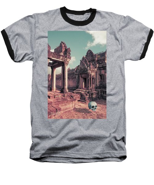 Cambodian Blue Baseball T-Shirt