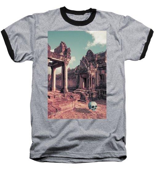 Cambodian Blue Baseball T-Shirt