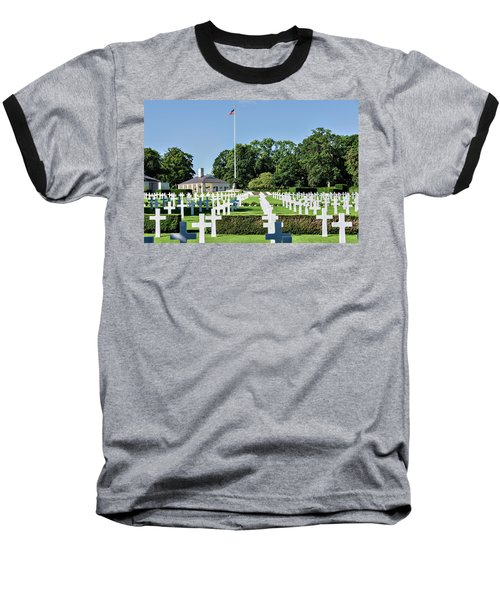 Baseball T-Shirt featuring the photograph Cambridge England American Cemetery by Alan Toepfer