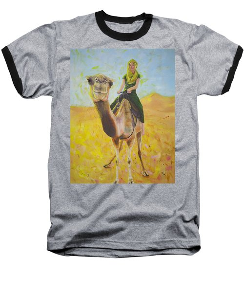 Camel At Work Baseball T-Shirt