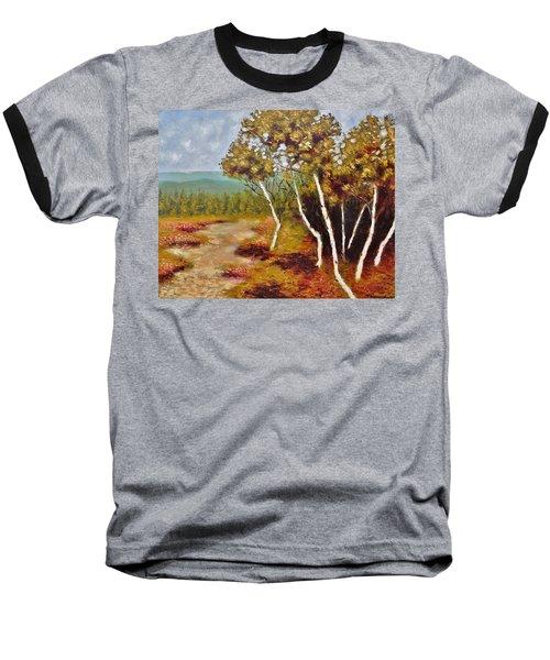 Camel Top Birches Baseball T-Shirt by Jason Williamson